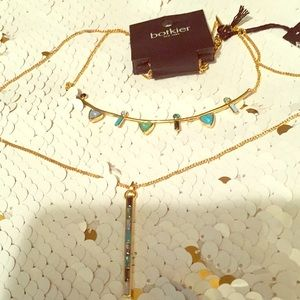Botkier 14 in gold 2 chain necklace